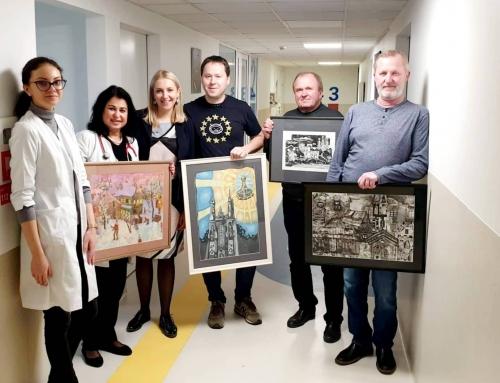 Druskininkų Rotary klubo dovanoti paveikslai papuoš Vaikų ligų skyriaus erdves