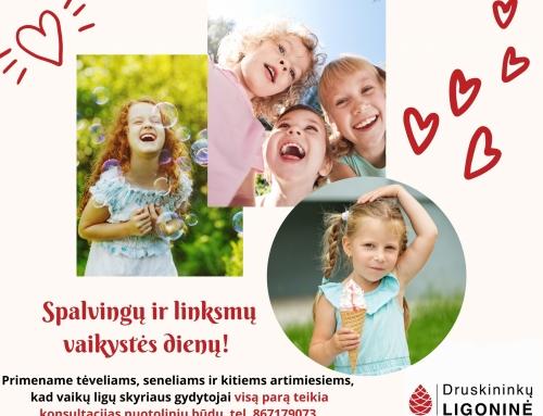 Sveikiname su Tarptautine vaikų gynimo diena